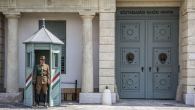 BUDAPEST, HUNGARY, - JULY 21, 2015:  Guards at Sandor palace Stock Images