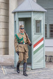 BUDAPEST, HUNGARY, - JULY 21, 2015:  Guards at Sandor palace Royalty Free Stock Photo