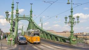 BUDAPEST, HUNGARY, - JULY 21, 2015:  Historic tram Stock Image