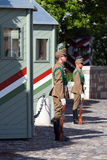 Budapest, Hungary, 15 June 2012 – Employees of a military guar Royalty Free Stock Photo
