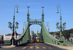 Budapest, Hungary, Liberty Bridge. The recently renovated Liberty Bridge, which connects Buda and Pest across the river Danube, was built between 1894 and 1896 Stock Photo
