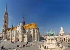 Budapest, Hungary - March 22, 2018: St. Matthias Church in Budapest. One of the main temple in Hungary Stock Photos