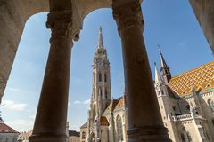 Budapest, Hungary - March 22, 2018: St. Matthias Church in Budapest. One of the main temple in Hungary Stock Image
