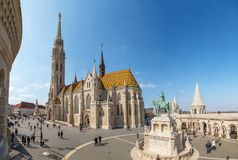 Budapest, Hungary - March 22, 2018: St. Matthias Church in Budapest. One of the main temple in Hungary Royalty Free Stock Photography