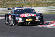 Budapest, Hungary, March 30 - 2014 new DTM Audi. Budapest, Hungary, March 30 - 2014  brand new DTM Audi first laps with professional driver Timo Scheider, before Royalty Free Stock Image