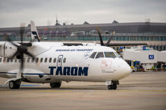BUDAPEST, HUNGARY - MARCH 5 - TAROM Ilyushin Il Royalty Free Stock Image
