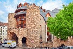 BUDAPEST, HUNGARY-MAY 03, 2016: Łabędź dom Jeden nowożytni bu Obraz Royalty Free