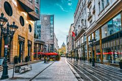 Free BUDAPEST, HUNGARY-MAY 04, 2016: Beautiful Landscape And Urban View Of The Budapest, One Of  Beautiful City: Street`s, Peoples On Royalty Free Stock Photography - 179110367