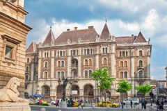 BUDAPEST, HUNGARY-MAY 02,2016: Buildin Palacio-magnífico de Dreschler Imagen de archivo