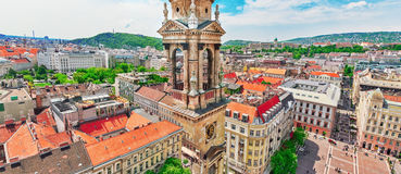 BUDAPEST, HUNGARY-MAY 04, 2016: City square  near St.Stephen Bas Royalty Free Stock Images