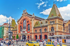 BUDAPEST, HUNGARY-MAY 06, 2016: Great Market Hall- largest and o Royalty Free Stock Images