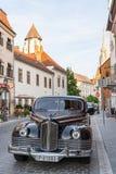 Budapest, Hungary - May 2019: Old soviet luxury limousine ZIS-110 on the street of Buda.  stock images