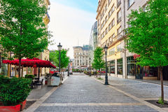 BUDAPEST, HUNGARY-MAY 04, 2016: Piękny krajobraz i miastowy vi Fotografia Stock