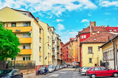 BUDAPEST, HUNGARY-MAY 03, 2016: Piękny krajobrazowy miastowy widok Fotografia Stock