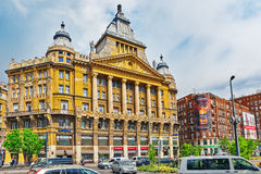 BUDAPEST, HUNGARY-MAY 05,2016: Piękny krajobrazowy miastowy widok, miasto Zdjęcie Stock