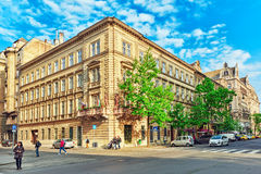 BUDAPEST, HUNGARY-MAY 04,2016: Piękny krajobrazowy miastowy widok, miasto Obraz Royalty Free