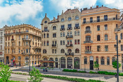 BUDAPEST, HUNGARY-MAY 05,2016: Piękny krajobrazowy miastowy widok, miasto Obrazy Stock