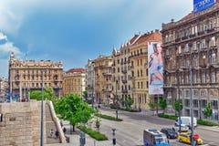 BUDAPEST, HUNGARY-MAY 05,2016: Piękny krajobrazowy miastowy widok, miasto Fotografia Royalty Free