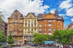 BUDAPEST, HUNGARY-MAY 06,2016: Piękny krajobrazowy miastowy widok, miasto Zdjęcie Stock