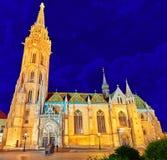 BUDAPEST, HUNGARY-MAY 06, 2016: St Matthias kościół w Budapest Obraz Stock