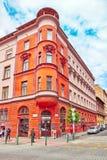 BUDAPEST HUNGARY-MAY 03, 2016: Stads- sikt för härligt landskap Arkivbild
