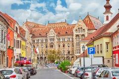 BUDAPEST HUNGARY-MAY 03, 2016: Stads- sikt för härligt landskap Royaltyfri Bild