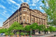 BUDAPEST HUNGARY-MAY 04,2016: Stads- sikt för härligt landskap, stad Arkivbilder