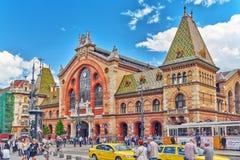 BUDAPEST HUNGARY-MAY 06, 2016: Stor marknad största Hall och nolla Royaltyfria Bilder