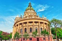 BUDAPEST HUNGARY-MAY 04, 2016: StStephen basilika i Budapest Royaltyfri Bild