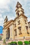 BUDAPEST HUNGARY-MAY 06, 2016: StStephen basilika i Budapest Royaltyfria Foton