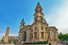 BUDAPEST HUNGARY-MAY 04, 2016: StStephen basilika i Budapest Arkivbild