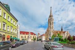 BUDAPEST, HUNGARY-MAY 03,2016 : Vue urbaine de beau paysage, ville Image libre de droits