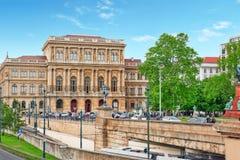 BUDAPEST, HUNGARY-MAY 02, 2016: Węgierska akademia Jest obrazy royalty free