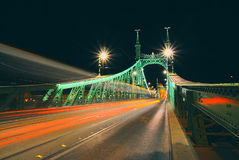 Budapest, Hungary. Nice view from one of the bridges from Budapest. Liberty Bridge Royalty Free Stock Image