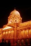 budapest Hungary noc pałac królewski Fotografia Stock