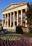 BUDAPEST / HUNGARY - NOV 4: Museum of Fine Arts in Budapest, featuring 'Rembrandt and the Dutch Golden Age' exhibition, till stock images
