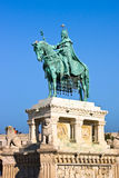 BUDAPEST, HUNGARY - November 5, 2015: King Saint Stephen Monument. BUDAPEST, HUNGARY King Saint Stephen Monument. The monument by sculptor Alajos Strobl, based royalty free stock photo