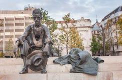 BUDAPEST, HUNGARY - OCTOBER 26, 2015: Poet Attila Jozsef statue in Budapest, Hungary, Royalty Free Stock Photos