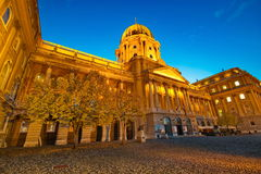 BUDAPEST, HUNGARY - OCTOBER 30: The Royal Palace in the Buda Cas Stock Images
