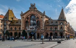 The Great or Central Market Hall in Budapest stock photography