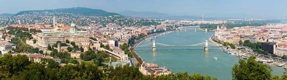 budapest hungary panorama Arkivfoton