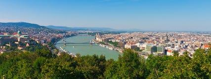 budapest hungary panorama Arkivbild
