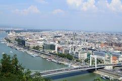 budapest hungary panorama- sikt Arkivfoto