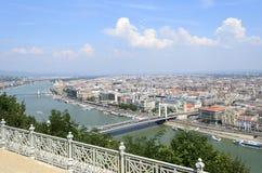budapest hungary panorama- sikt Royaltyfri Fotografi