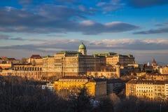 Budapest, Hungary - Panoramic skyline view of the beautiful BudaBudapest, Hungary - Panoramic skyline view of the beautiful Buda C. Budapest, Hungary - Panoramic stock photo