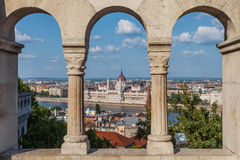 Budapest, Hungary - The Parliament Building and the Danube Royalty Free Stock Photos