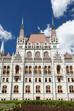Budapest, Hungary. Parliament building with Hungarian flag Royalty Free Stock Photos