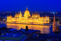 Budapest, Hungary. Parliament building at night, Budapest hungary Stock Photography
