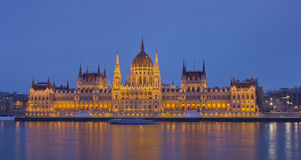 Budapest, Hungarian Parliament Building at sunset Royalty Free Stock Photography