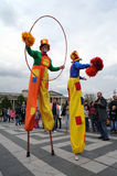 Budapest, Hungary -18 04, 2014 : Participants at the 10. International circus festival Royalty Free Stock Image